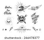 traditional tattoo biker set of ... | Shutterstock .eps vector #266478377