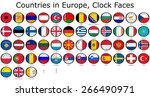 list of countries in europe ... | Shutterstock . vector #266490971