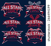 set of vintage sports all star... | Shutterstock .eps vector #266494199