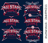 set of vintage sports all star... | Shutterstock .eps vector #266494211