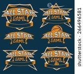 set of vintage sports all star... | Shutterstock .eps vector #266496581