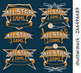 set of vintage sports all star... | Shutterstock .eps vector #266496689