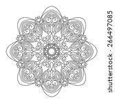 beautiful deco mandala  vector  ... | Shutterstock .eps vector #266497085
