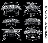 set of vintage sports all star... | Shutterstock .eps vector #266497607