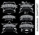 set of vintage sports all star... | Shutterstock .eps vector #266497607