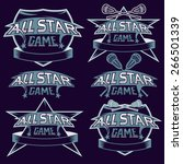 set of vintage sports all star... | Shutterstock .eps vector #266501339