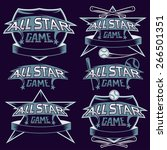 set of vintage sports all star... | Shutterstock .eps vector #266501351