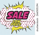 big sale design over pointed... | Shutterstock .eps vector #266505194