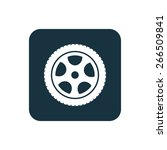 car wheel icon rounded squares... | Shutterstock . vector #266509841