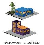 isometric design over white... | Shutterstock .eps vector #266511539