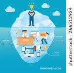 behind business success flat... | Shutterstock .eps vector #266512934