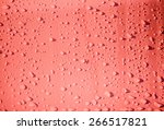 raindrops on pink metal surface | Shutterstock . vector #266517821