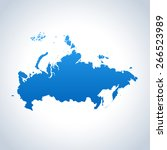 russia map | Shutterstock .eps vector #266523989