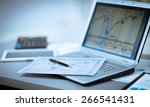 businessman analyzing... | Shutterstock . vector #266541431