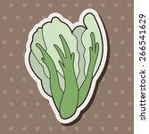 vegetable theme water... | Shutterstock .eps vector #266541629