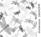 Dragonflies  Seamless Pattern ...