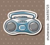 style radio theme elements... | Shutterstock .eps vector #266550725