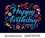 greeting card with handwritten... | Shutterstock .eps vector #266556935