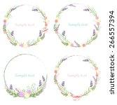 floral frame vector | Shutterstock .eps vector #266557394