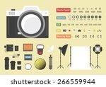 camera infographic  hybrid... | Shutterstock .eps vector #266559944