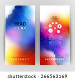 set of two banners  abstract... | Shutterstock .eps vector #266563169
