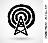 grunge antenna icon   Shutterstock .eps vector #266563529