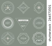 abstract hipster outline badges ... | Shutterstock .eps vector #266573501
