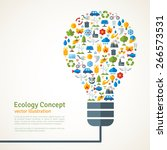 light bulb with ecology icons...