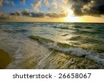 Sunrise  Atlantic Ocean Coast ...