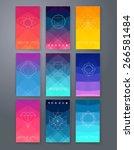 template. vector set of emblems....   Shutterstock .eps vector #266581484