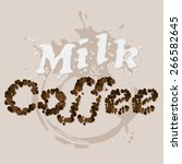 milk and coffee | Shutterstock .eps vector #266582645