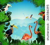 Tropical Forest Background Wit...
