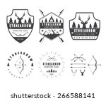 set of vintage hunting labels ... | Shutterstock .eps vector #266588141