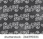floral seamless pattern with... | Shutterstock . vector #266590331