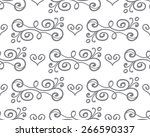 floral seamless pattern with... | Shutterstock . vector #266590337