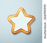 Retro Cinema Bulb Sign Star...