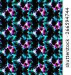 seamless abstract floral print... | Shutterstock . vector #266594744