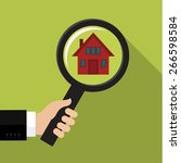 house hunting and searching for ... | Shutterstock .eps vector #266598584