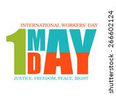 happy may day  workers day and... | Shutterstock .eps vector #266602124