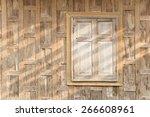 Old Wooden Window. Thailand...