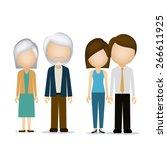 family design over white... | Shutterstock .eps vector #266611925