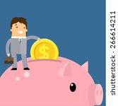 keep money concept. business... | Shutterstock .eps vector #266614211