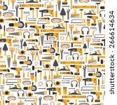 construction tools vector icons ... | Shutterstock .eps vector #266614634