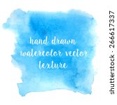 set of watercolor strokes and... | Shutterstock .eps vector #266617337