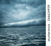 stormy sea. wild nature dark... | Shutterstock . vector #266624939