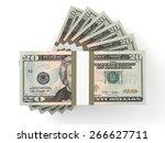 stacks of money. twenty dollars....   Shutterstock . vector #266627711