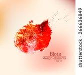 abstract stylish wet acrylic... | Shutterstock .eps vector #266636849