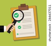 vector business contract and... | Shutterstock .eps vector #266637011