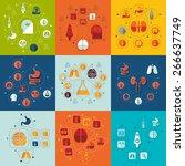 medicine flat infographic | Shutterstock .eps vector #266637749