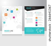 vector internet communication... | Shutterstock .eps vector #266641367